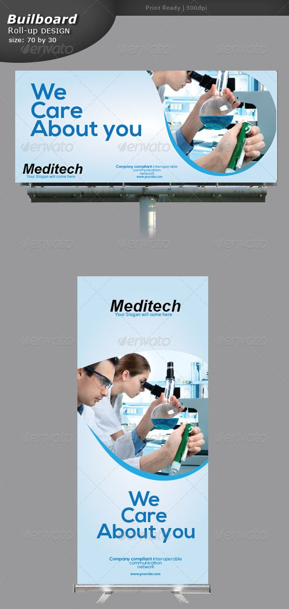 Medical Billboard and Roll-up Banner - Signage Print Templates