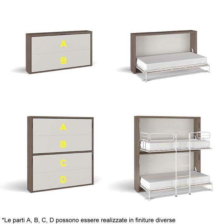 Oltre 20 migliori idee su scrivania per letto a castello - Letto ribaltabile ikea ...