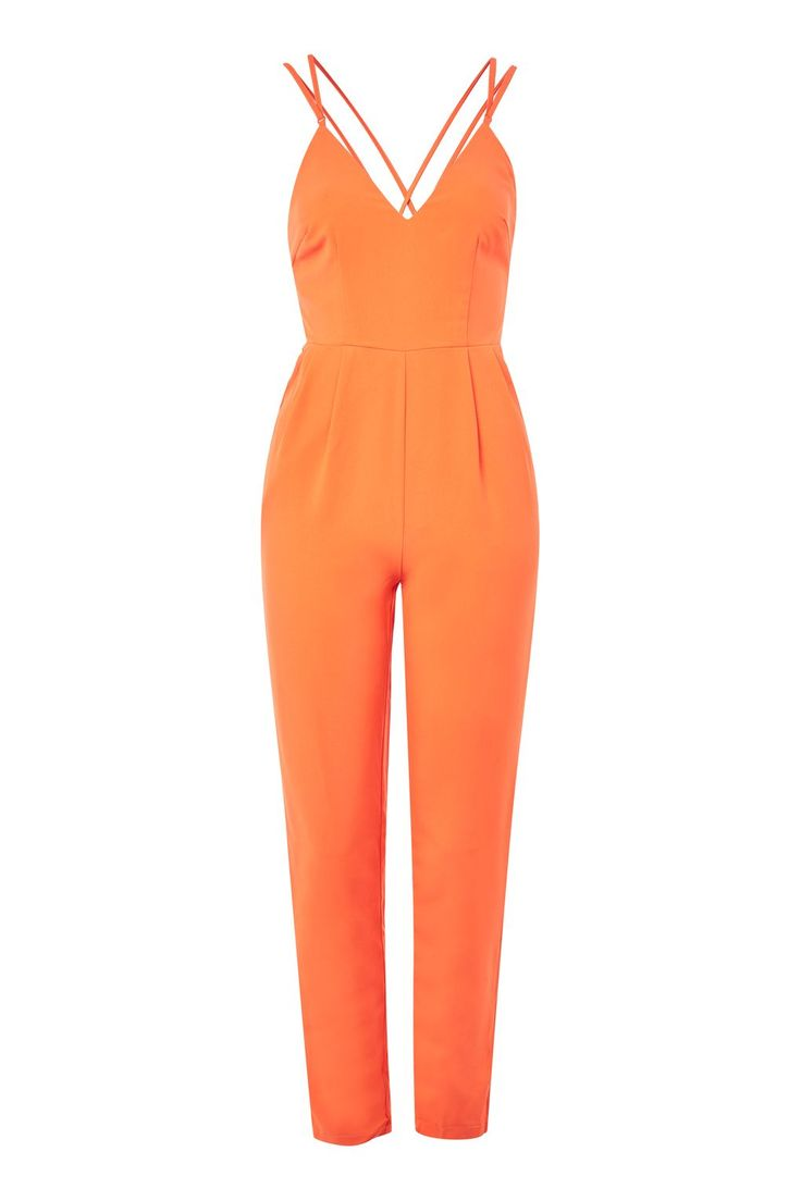 **Camisole Style Plunge Jumpsuit by Glamorous Petite - Playsuits and Jumpsuits - Clothing - Topshop Europe