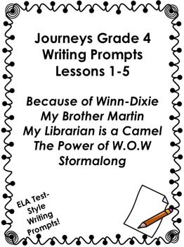 40 best 4th Grade Journeys Writing Promts images on