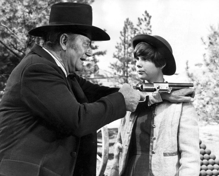 John Wayne and Kim Darby. True Grit (1969)