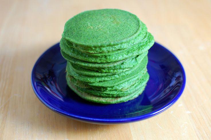 Зелёные блины без яиц