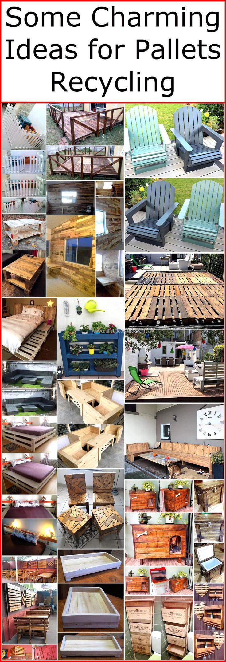 Such charming ideas and plans will provide you ease of decorating your dream house in affordable style. These few charming ideas for pallets recycling will help you to refurbish your home with new, stylish wood pallet furniture. These pallets wood ideas will create a delightful and lovable environment at your home.