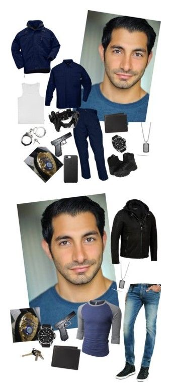 """The Rookie Cop's Closet"" by laura-oconnor997 ❤ liked on Polyvore featuring POLICE, Gucci, John Hardy, The Men's Store, 5.11 Tactical, Magnum, men's fashion, menswear, Avon and Express"