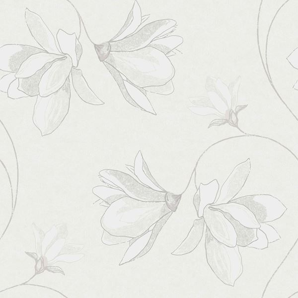 Wallpaper from the collection Borosan EasyUp 14 in the colour White and pattern Large scale pattern, Floral.