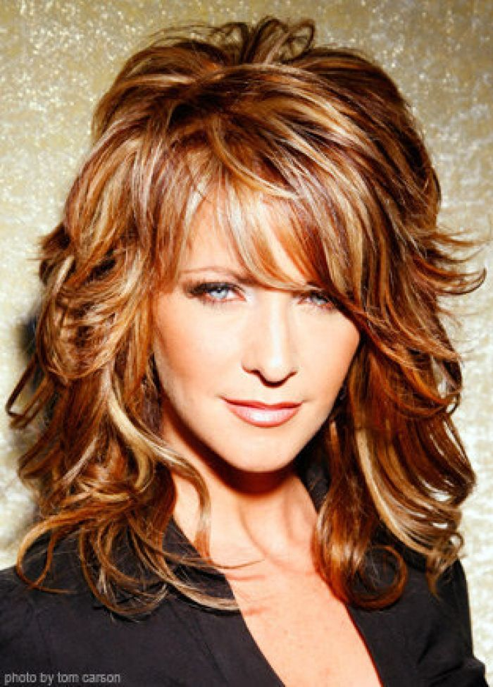 May I should try more colors (highlights) now that it is summer  Shag Layered Hairstyles 2013