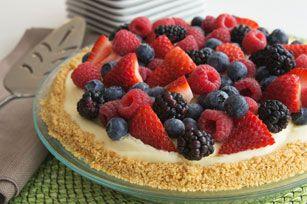 Gâteau au fromage sans cuisson JELL-O aux petits fruits
