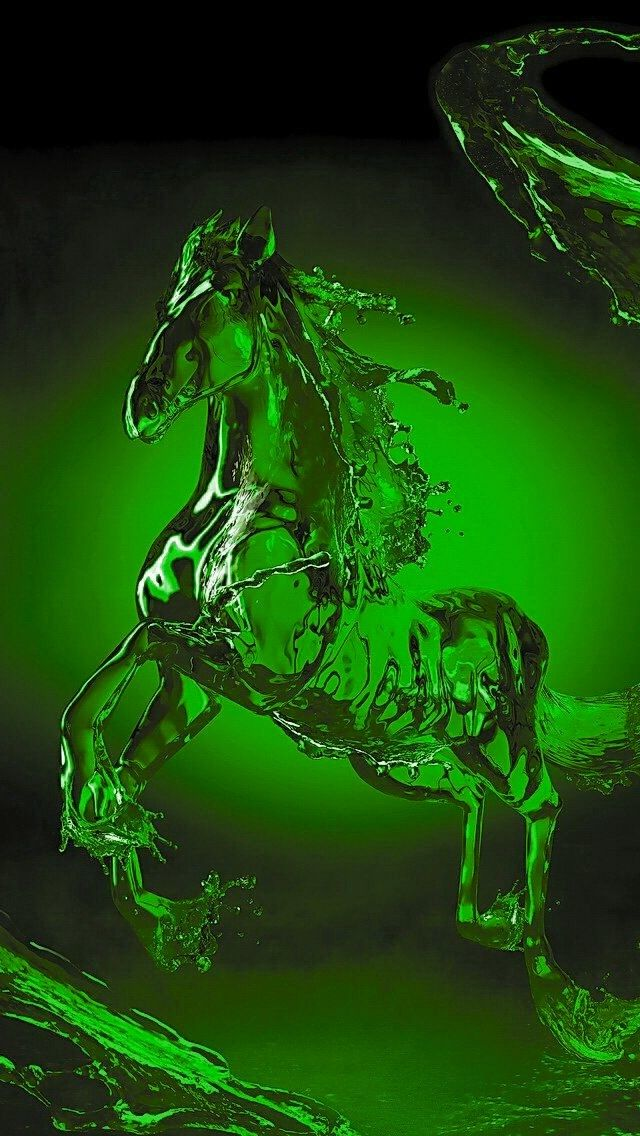 Green Horse Green Pictures Green Aesthetic Green Wallpaper