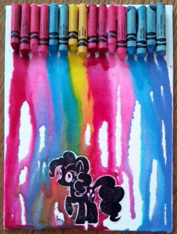 Pinkie Pie crayon art