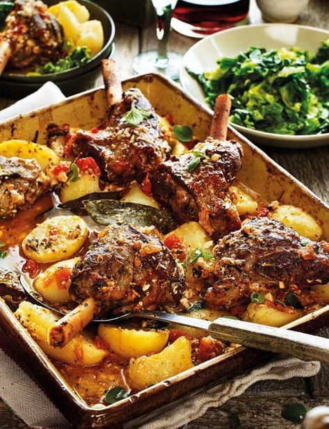 Try our delicious recipe for Greek lamb kleftiko served with potatoes, oregano and lemon