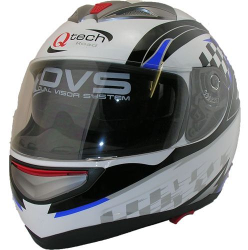 Full-FACE-Road-Legal-Helmet-by-Qtech-Motorcycle-Motorbike-Scooter-BLUE-White  £32.95  on 01270 841877