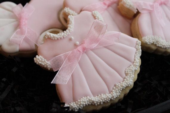 This listing is for 1 dozen Adorable Baby Shower Dress Sugar Cookies custom made just for you! If you would like to change the color, just let