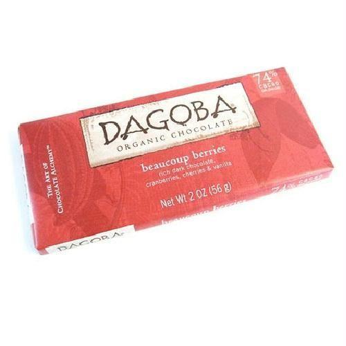 Dagoba Chocolate Beaucoup Berry Chocolate Bar (12x2 Oz)