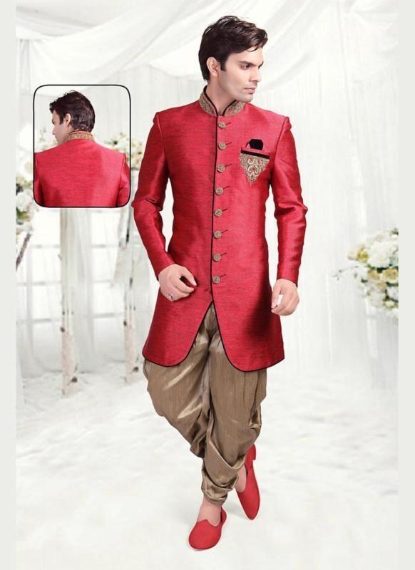 Bollywood Indostyle Designer Wedding Indian Ethnic Dress Readymade Mens Sherwani