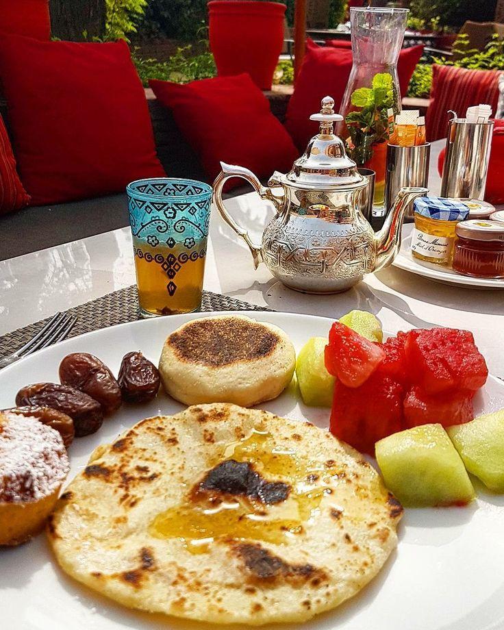 Beautiful breakfast in Morocco.