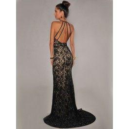 Vestido De Noche Largo Con Espalda Descubierta VL67