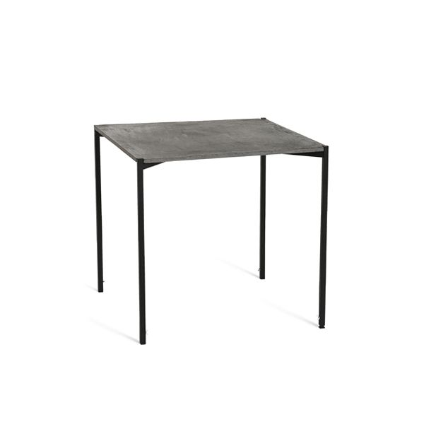 EH 6 - Dining Table. Conctrete table top and black powder painted legs. #concretetable #table #diningtable #powderpaint #danishdesign