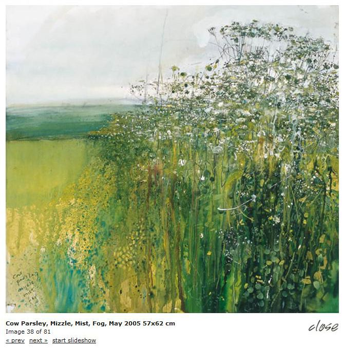 'COW PARSLEY, MIZZLE, MIST, FOG' () | Kurt Jackson - from the exhibition 'An Ke Kernwerk' ✫ღ⊰n