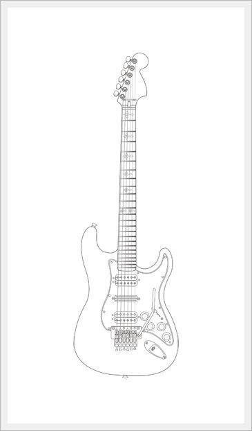 drawing of guitar