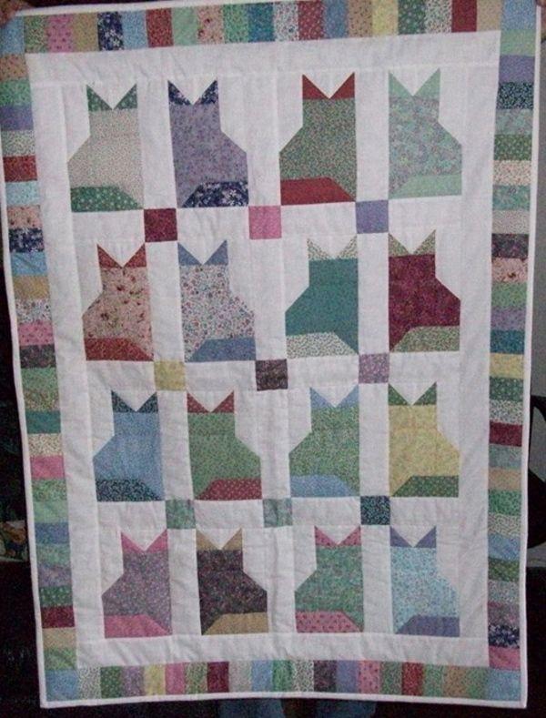 297 Best Cat Quilts Images On Pinterest