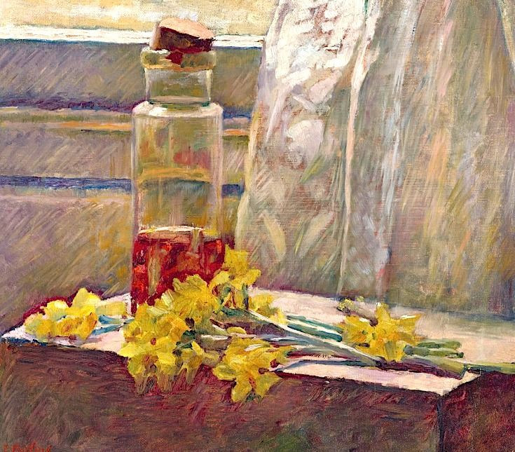 Edouard Vuillard: Daffodils and Jar, 1889