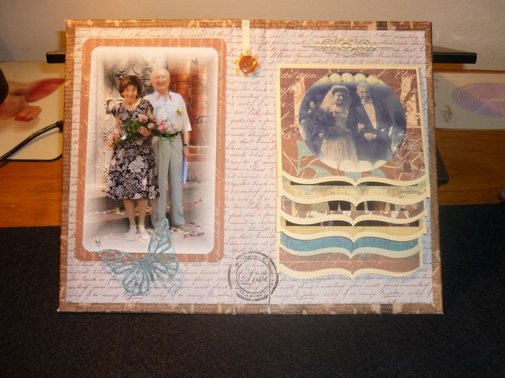 """album di nozze di diamante. Ho utilizzato le fustelle della """"La Coppia Creativa"""" http://www.lacoppiacreativa.com/"""