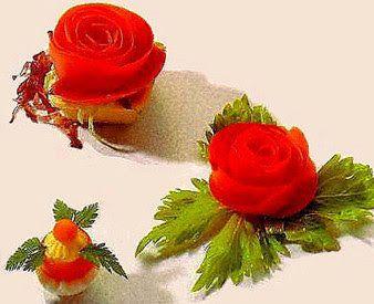 НАША СТРАНА МАСТЕРОВ: Пошаговый мастер класс. «Розы» из помидора