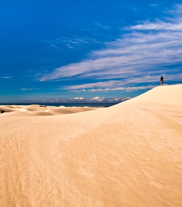 I love the Arniston dunes. The best is to walk all the way to the top, sit, and look at the ocean... :)