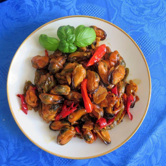 Miesmuschelpfanne nach Indonesischer Art Braten Hauptgerichte Meeresfrüchte #asianfood #asiatisch #exotisch