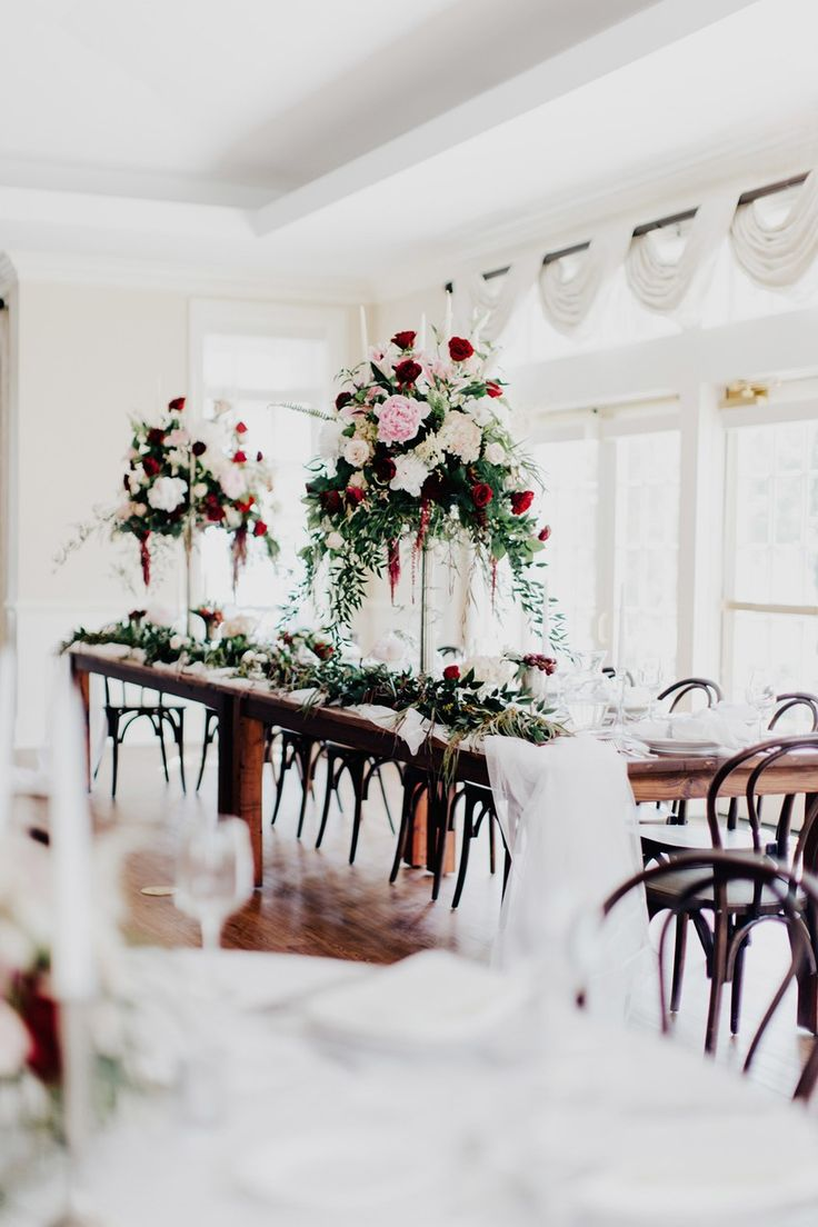 Elegant Downton Abbery Inspired Wedding Reception