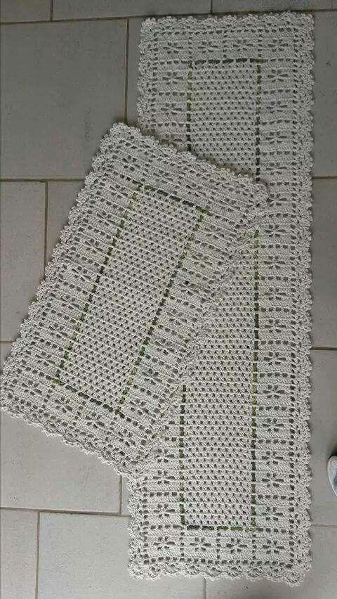 17 Best ideas about Tapetes Barbante Cozinha on Pinterest  Croche barbante c -> Tapete Para Banheiro Croche Simples