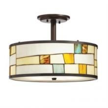 One Light Shadow Bronze Drum Shade Mini Pendant | Richmond Chandelier