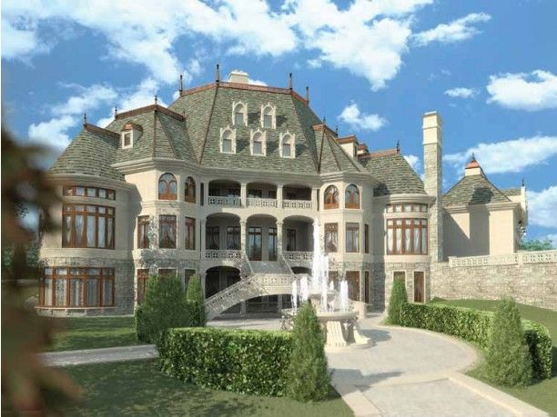 One day, this shall be the back side of my dream Master House.  Entertaining will go on here as well as basic housing for friends and family.  More importantly, this is where my ginormous library and theater shall be.