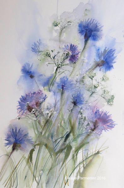 Cornflowers and Gypsophilia Kaye Parmenter
