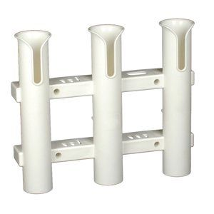 CE Smith Tournament 3 Rack Rod Holder White-Replacement Parts and Accessories for Tournament Fishing Rod Fishing Deep Sea Fishing and Trolling - Camo Guys