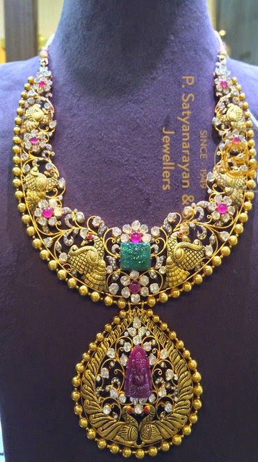Jewellery Designs: Exclusive Peacock Set by PSJ