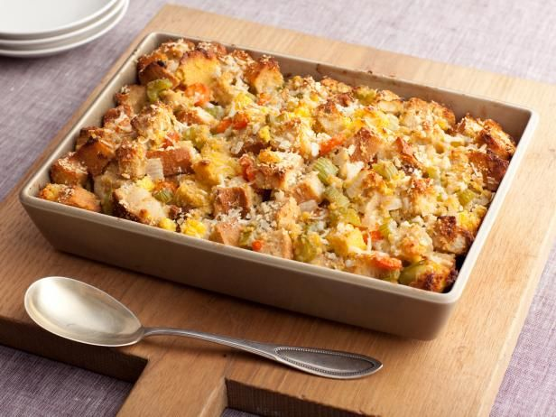 Get Three-Bread Stuffing Recipe from Food Network