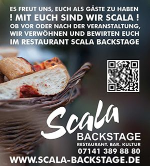 Scala Backstage / Restaurant | Bar | Biergarten / die Adresse in Ludwigsburg