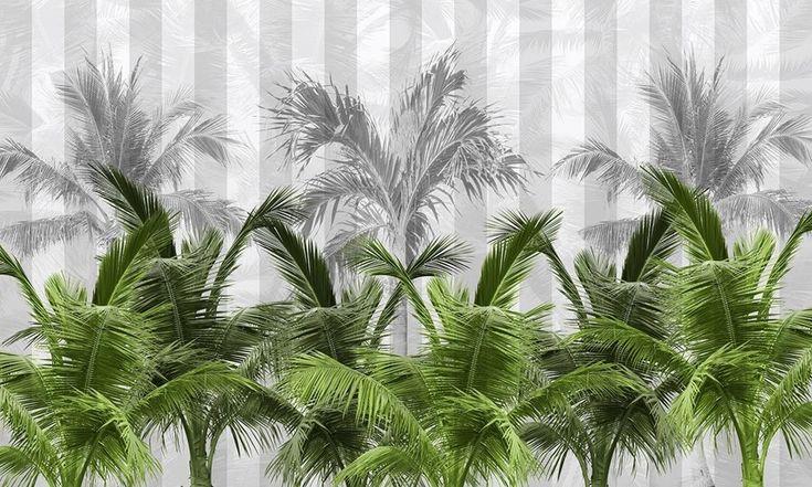 Carta da parati tropicale PVC free, eco, lavabile Carta