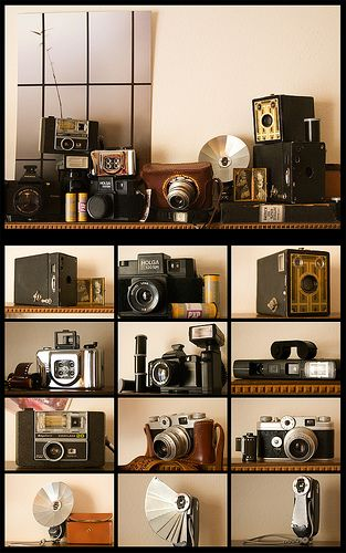 Our camera collection is almost looking this good.
