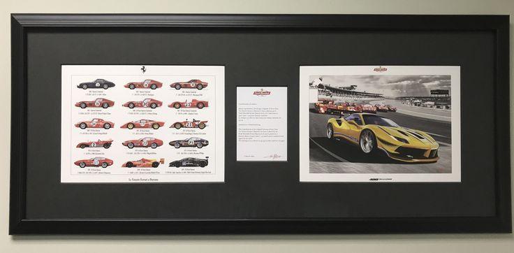 Finally had the Enzo Naso print from the Ferrari Finali Mondiali framed. #Ferrari #cars #car #supercar #luxury