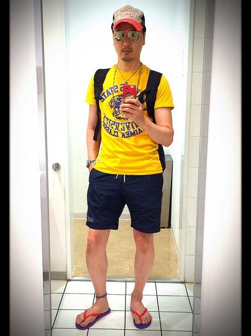 今日は珍しく、ヒスTじゃなく、スポーティな感じが欲しかったのでこんなTシャツにしてみました! 部活帰