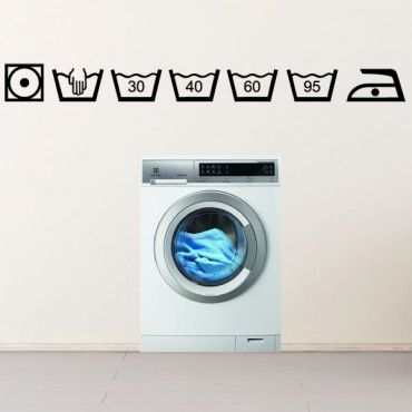 idée déco buanderie Symboles lavage