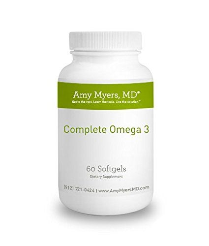Dr. Amy Myers' Complete Omega 3 Capsules - 60 Capsules - 1300 mg of fish oil in one capsule - DHA and EPA:   This amazing new Omega 3 Capsule delivers 1300 mg of fish oil in ONE enteric coated gelcap per day - half the serving size of most Omega 3 capsules! It features a new patented lipid absorption technology that allows three times greater EPA+DHA absorption rate than an equivalent dose of other leading fish oils. The fish oil is absorption-ready and directly assimilated in the inte...