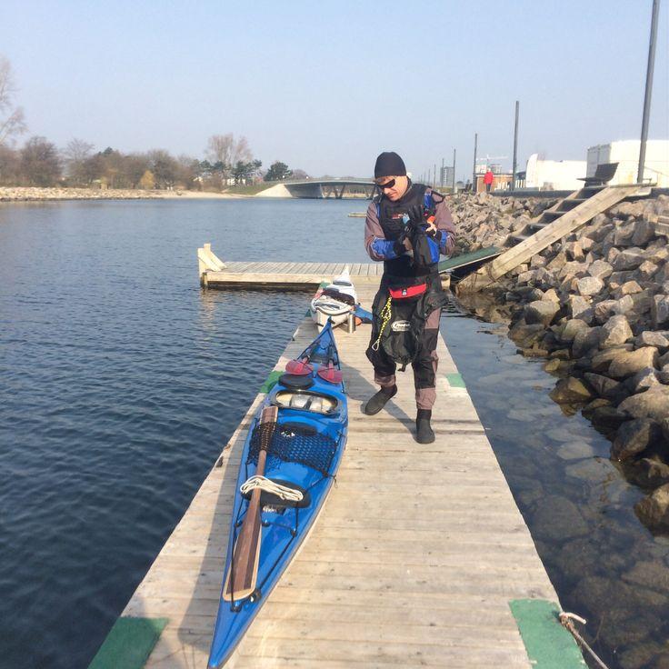Kayaking at spring