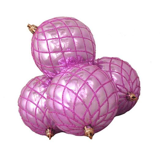 Northlight 4ct Shiny Bubblegum Pink Diamond Shatterproof Ball Ornaments