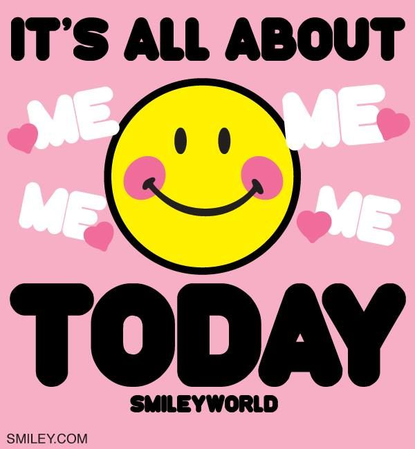 Sunday!! Forget everything: it's all about you today!!! Free Download of all smiley icons  at www.smiley.com