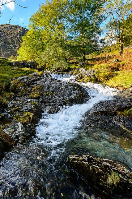 Stream in Snowdonia Nant Gwynant, Wales Scene from my new novel.