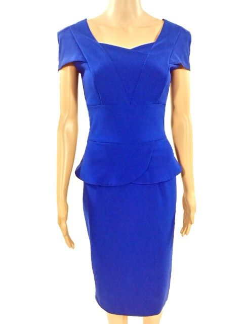 Kobalt blauwe jurk. Diva Catwalk 36/38