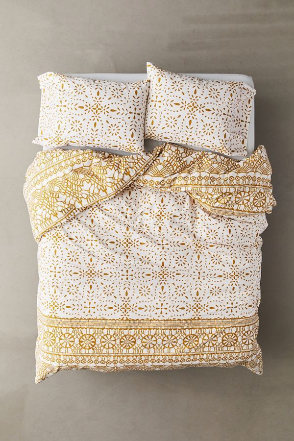 Evelyn Tile Duvet Set Duvet sets, Duvet, Duvet covers